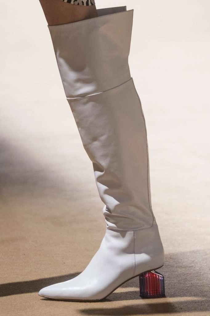 stivali invernali bianchi