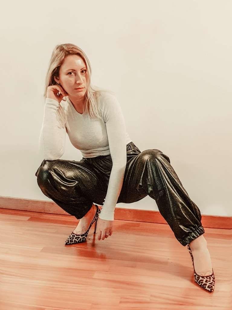 Pantaloni in pelle joggers