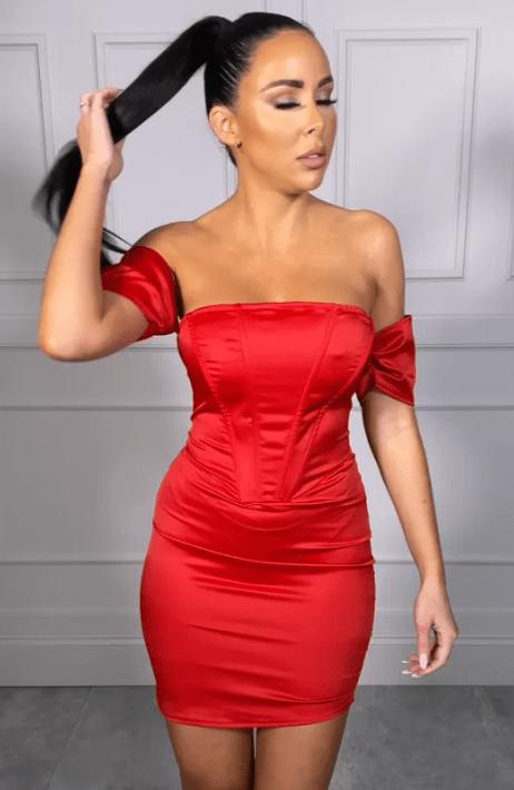 vestito rosso estivo serale
