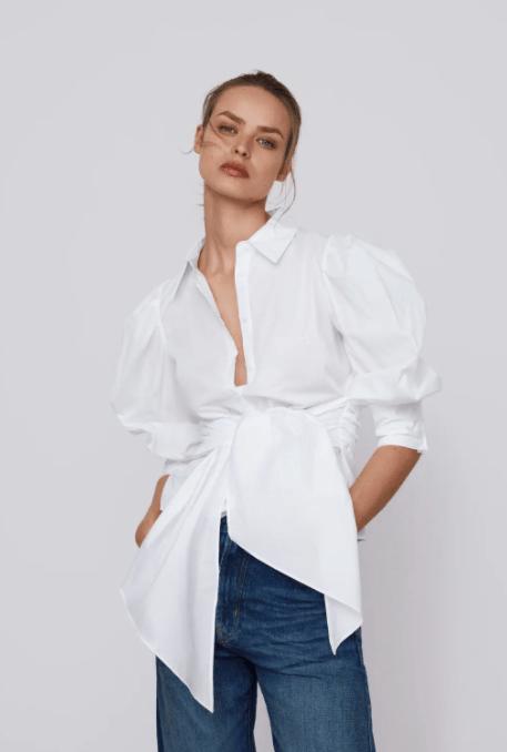 camicia bianca, saldi invernali