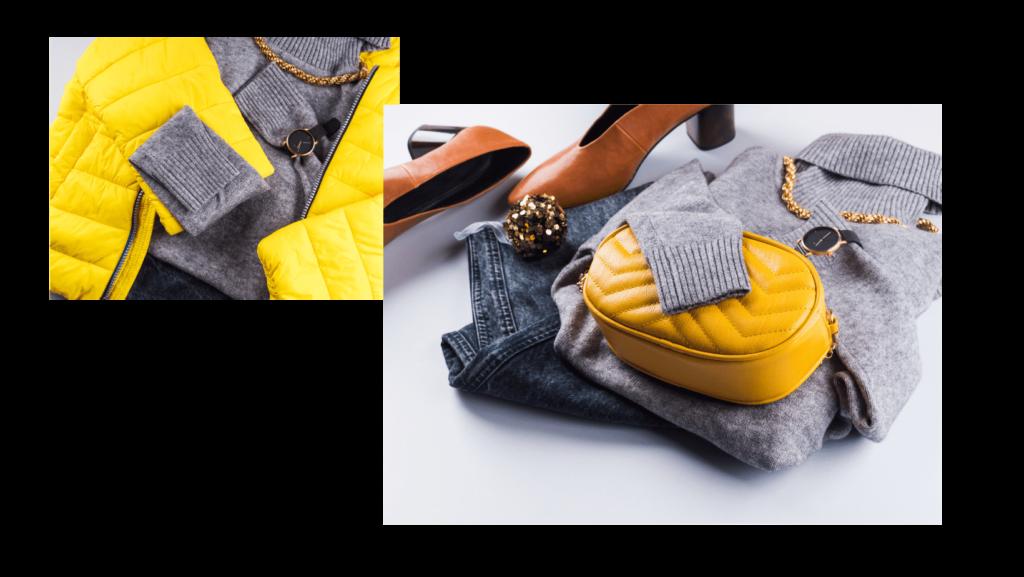 grigio e giallo